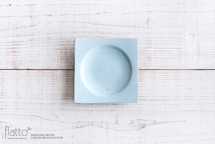 空色釉 角皿(小) 作家「水野幸一」