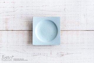 水野幸一|空色釉 角皿(小)