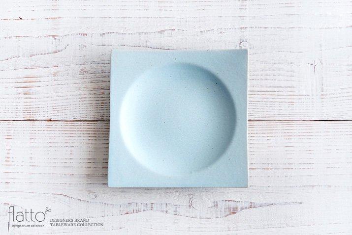 水野幸一|空色釉 角皿(中)