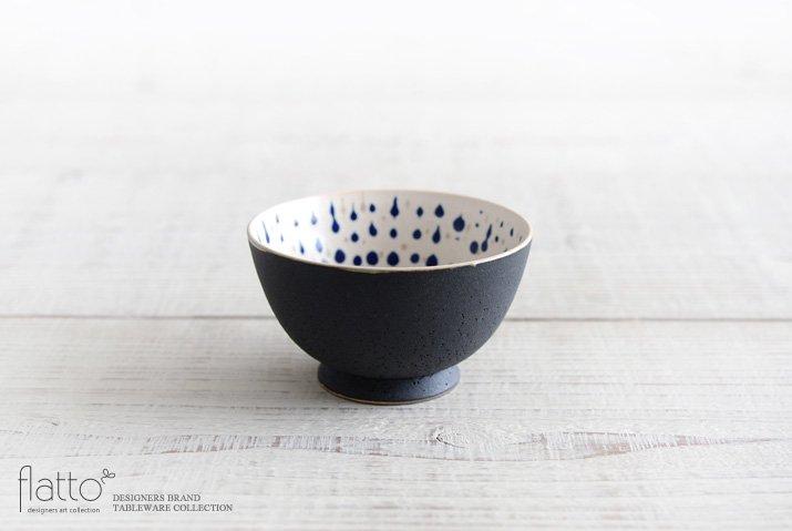 白釉四季彩 小鉢 (黒マット・雫・紺) 作家「安田宏定」