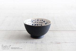 安田宏定|白釉四季彩 小鉢(黒マット・雫・紺)