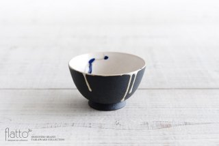 安田宏定|白釉四季彩 小鉢(黒マット・流・紺)