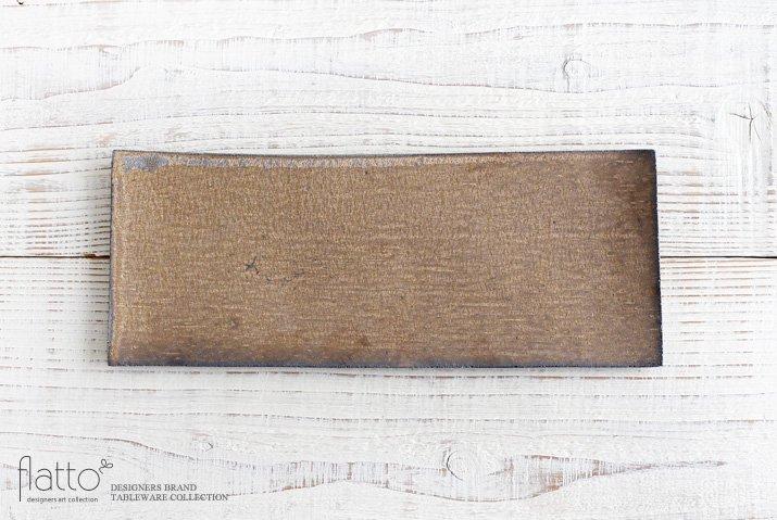 水野幸一|銅彩釉 角長皿(大)