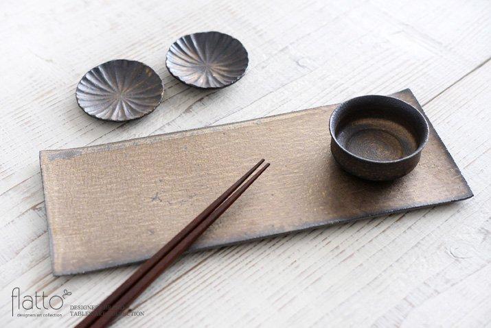 水野幸一|銅彩釉 角長皿(大)-04
