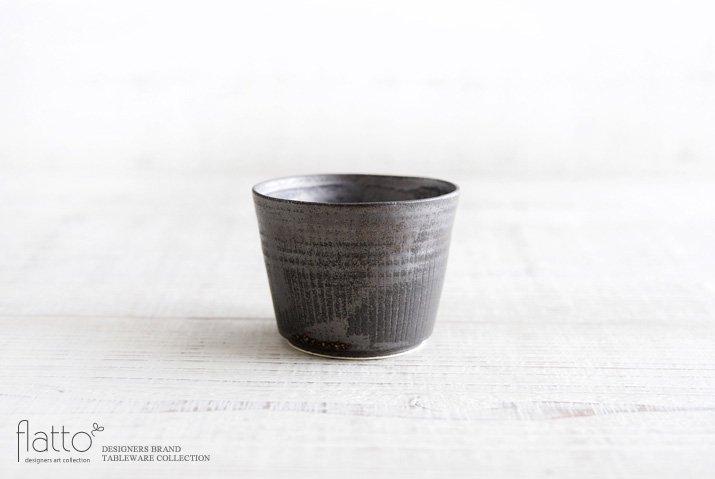shiro-kuro 蕎麦猪口カップ(黒) 作家「トキノハ」
