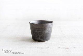 shiro-kuro 蕎麦猪口カップ(黒) 和食器作家「トキノハ」
