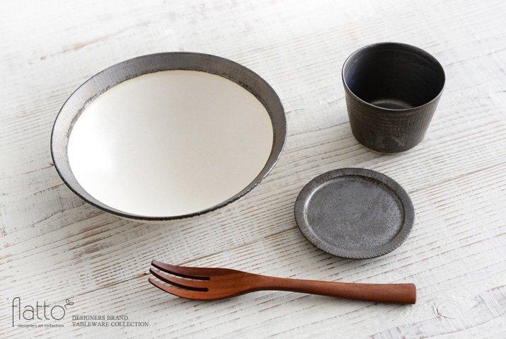 shiro-kuro 6寸鉢(縁黒) 作家「トキノハ」-04