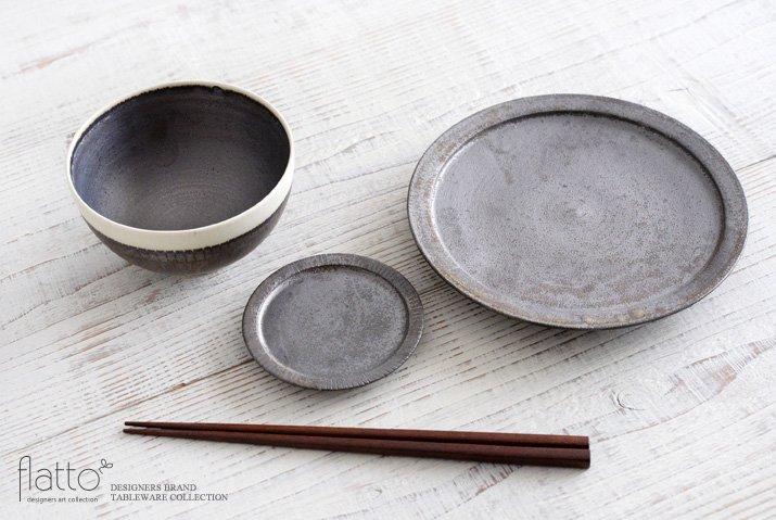 トキノハ|shiro-kuro 飯碗(丸・縁白)-04