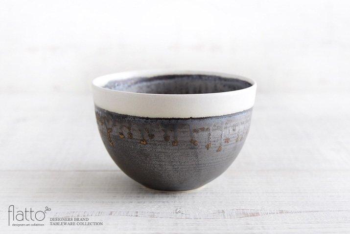 shiro-kuro 碗(6・縁白) 作家「トキノハ」