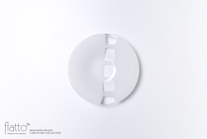 丸鉢(小c・白) ガラス作家「サブロウ」