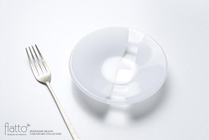 丸鉢(小c・白) ガラス作家「サブロウ」-02