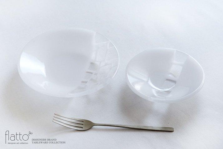 丸鉢(小c・白) ガラス作家「サブロウ」-04