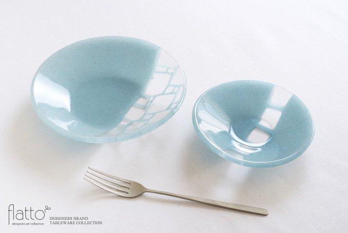 丸鉢(小c・水色) ガラス作家「サブロウ」-04
