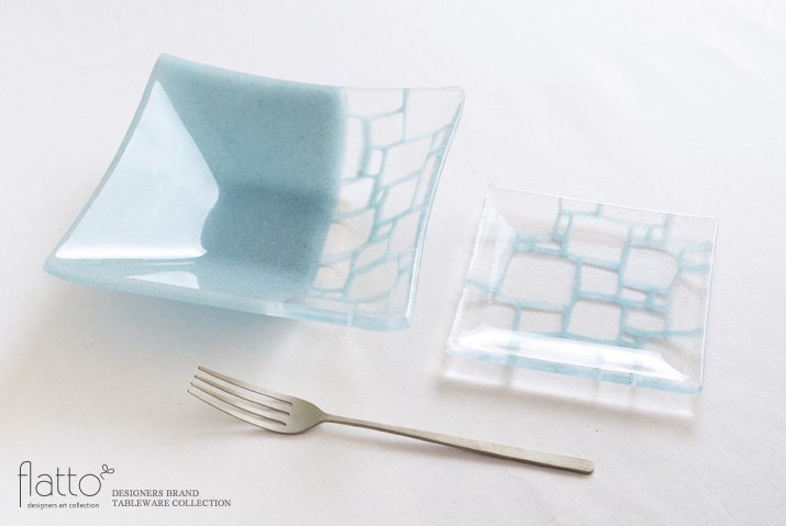 サブロウ|角皿(小a・水色)-04
