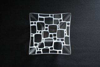 角深鉢(中a・白) ガラス作家「サブロウ」
