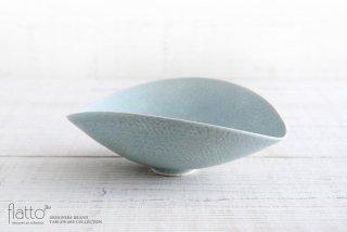 水野幸一|空色釉ひずみ鉢(小)