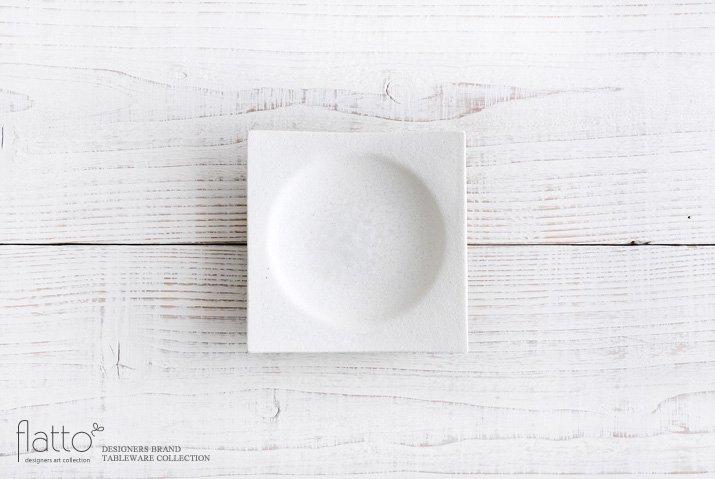水野幸一|粉引 角皿(小)