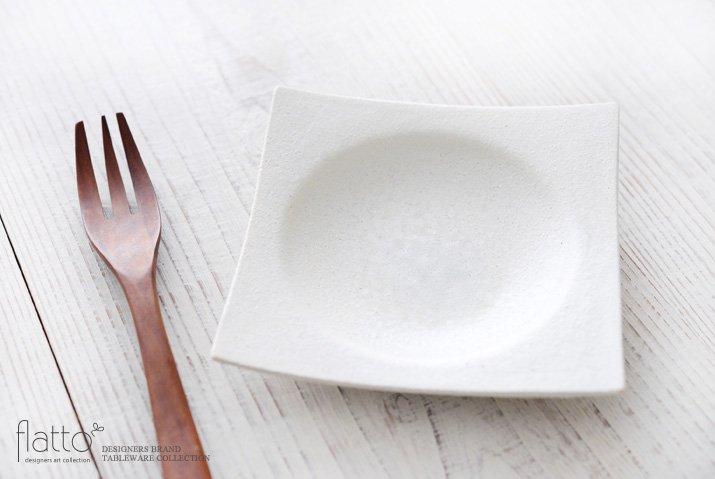 水野幸一|粉引 角皿(小)-02