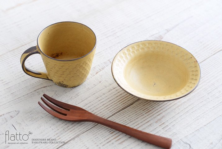 武曽健一|印花小鉢(黄)-04