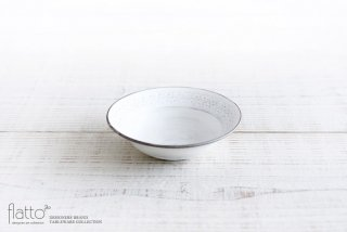 武曽健一|印花小鉢(白)