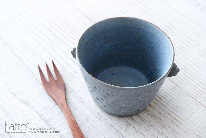 武曽健一|印花ちょこフリーカップ(耳付・灰)-02