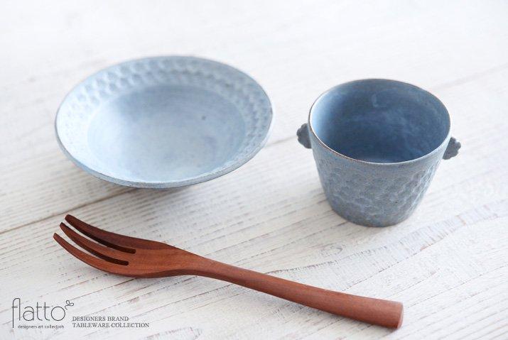 武曽健一|印花ちょこフリーカップ(耳付・灰)-04