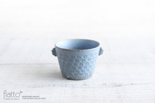 印花ちょこフリーカップ(耳付・灰) 作家「武曽健一」