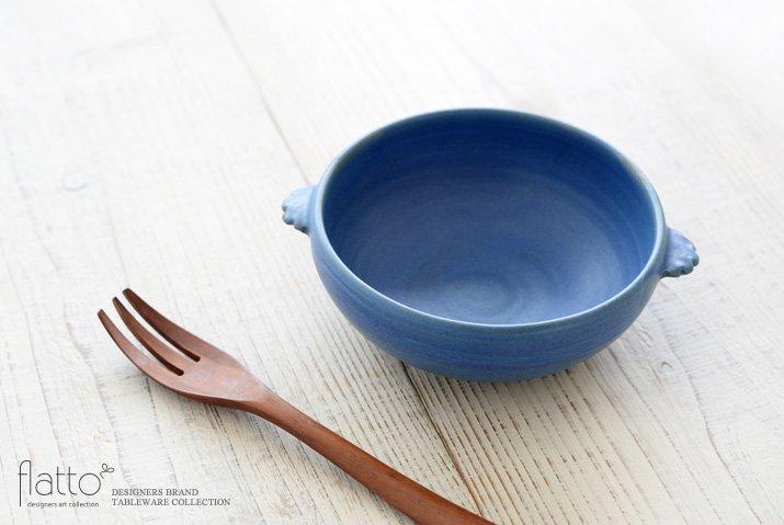 武曽健一|スープ鉢(青)-02