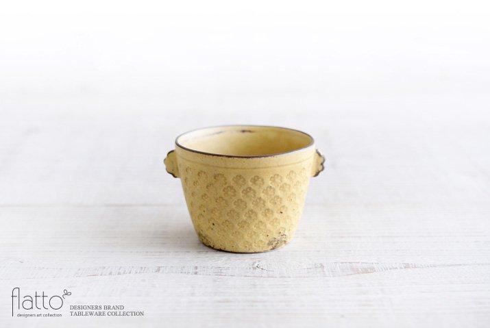 武曽健一|印花ちょこフリーカップ(耳付・黄)