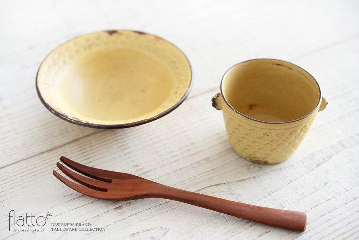 武曽健一|印花ちょこフリーカップ(耳付・黄)-04