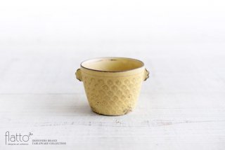 印花ちょこフリーカップ(耳付・黄) 和食器作家「武曽健一」