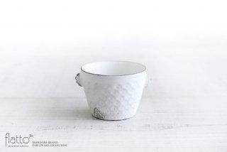 印花ちょこフリーカップ(耳付・白)|武曽健一