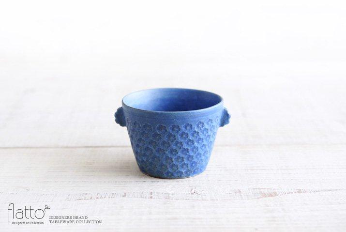 武曽健一|印花ちょこフリーカップ(耳付・青)