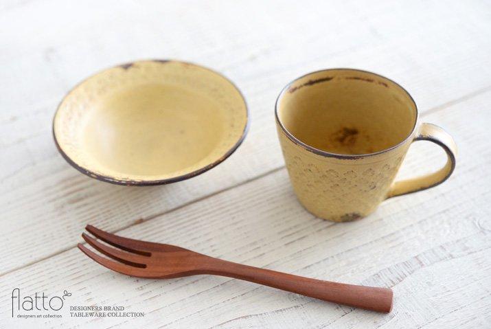 印花マグカップ(縦長・黄)|武曽健一-04