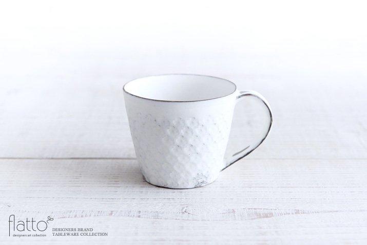 印花マグカップ(縦長・白)|武曽健一
