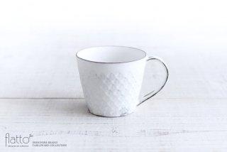 印花マグカップ(縦長・白) 作家「武曽健一」
