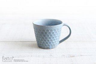 印花マグカップ(縦長・灰) 作家「武曽健一」