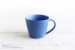 印花マグカップ(縦長・青)|武曽健一