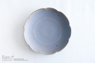 輪花皿(青紫) 作家「杉原万理江」
