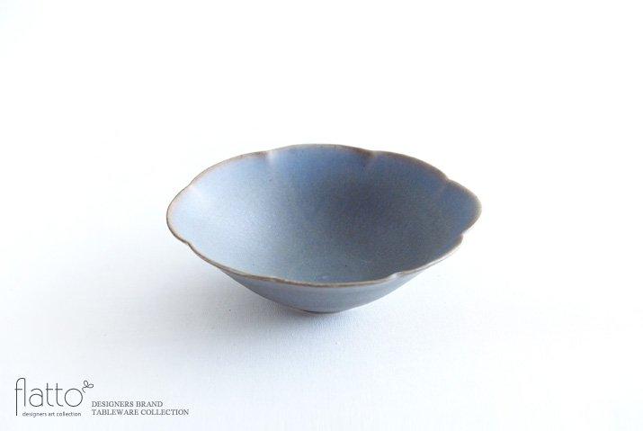 杉原万理江|楕円輪花鉢A(青紫)