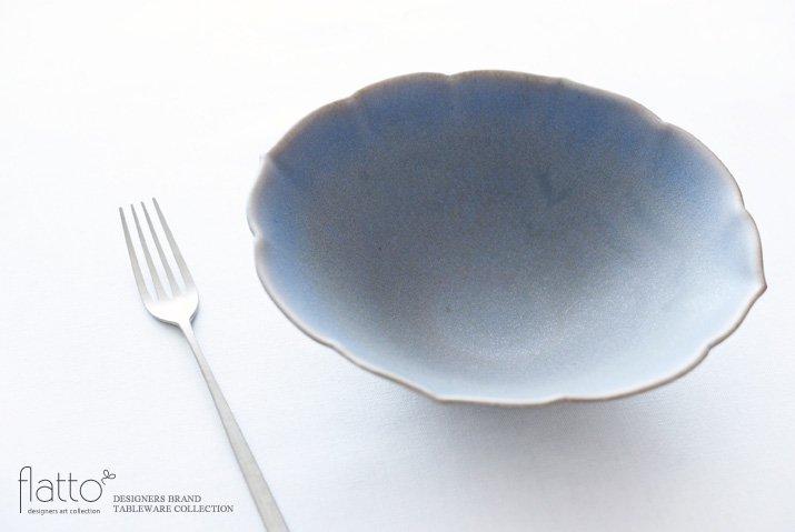 楕円輪花鉢B(青紫) 作家「杉原万理江」-02