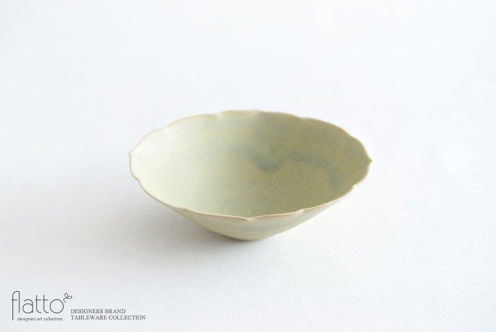楕円輪花鉢B(黄緑) 作家「杉原万理江」