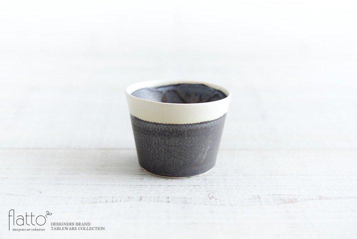 トキノハ|shiro-kuro 蕎麦猪口カップ(縁白)