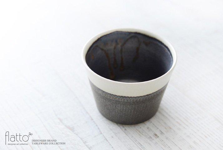 トキノハ|shiro-kuro 蕎麦猪口カップ(縁白)-02