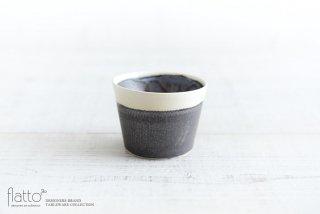 shiro-kuro 蕎麦猪口カップ(縁白) 和食器作家「トキノハ」