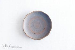 杉原万理江|輪花小皿A(青紫)