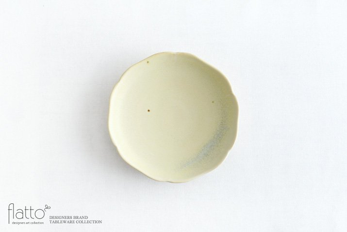杉原万理江|輪花小皿A(黄緑)