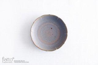 杉原万理江|輪花小皿B(青紫)