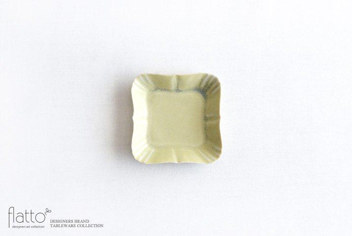 杉原万理江|KATACHI豆皿 シカク(黄緑)