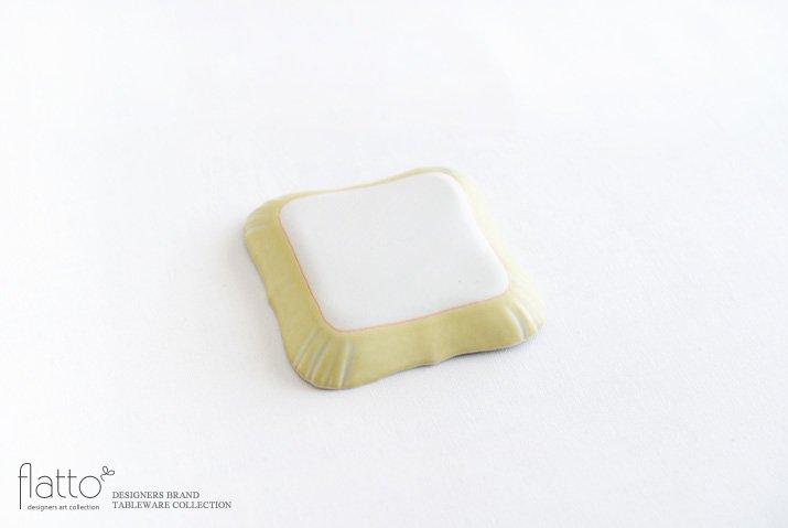 杉原万理江|KATACHI豆皿 シカク(黄緑)-04
